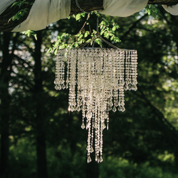 Crystal beaded chandelier with extension abc rentals midwest crystal beaded chandelier with extension aloadofball Choice Image