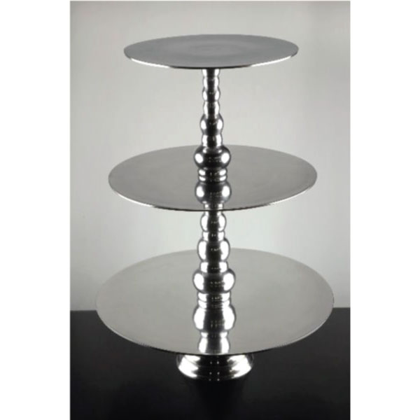 Silver 3 Tier Flat Stand