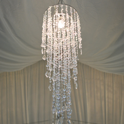 Crystal beaded chandelier with extension abc rentals midwest crystal beaded chandelier aloadofball Choice Image